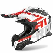 Casque cross Airoh TERMINATOR OPEN VISION - HANGER - RED MATT 2020