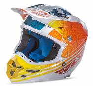 Casque cross Fly Racing F2 Carbon Animal orange/blanc/bleu - S