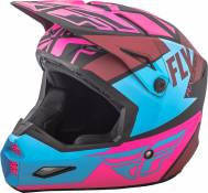 Casque cross Fly Racing Elite Guild noir/rose/bleu - S