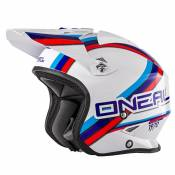 Casque O'Neal SLAT - CIRCUIT - WHITE BLUE GLOSSY