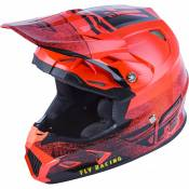 Casque cross enfant Fly Racing Toxin Mips Embargo rouge/noir - YL