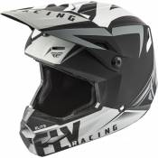Casque cross Fly Racing Elite Vigilant noir/gris mat - S