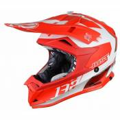 Casque cross Just1 J32 Pro Kick rouge / blanc mat- XL