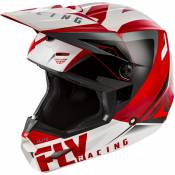Casque cross Fly Racing Elite Vigilant rouge/noir/blanc - S