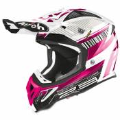 Casque cross Airoh AVIATOR 2.3 - NOVAK - CHROME PINK - AMSS 2020