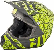 Casque cross Fly Racing F2 Carbon Fracture gris/jaune fluo - M