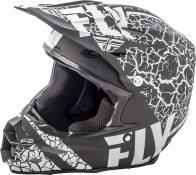 Casque cross Fly Racing F2 Carbon Fracture noir/blanc mat - L