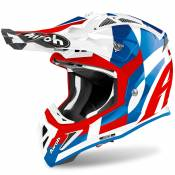 Casque cross Airoh AVIATOR ACE - TRICK - BLUE GLOSS 2021