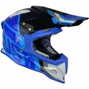 Casque cross Just1 J12 Unit bleu / carbone- L