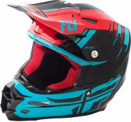Casque cross Fly Racing F2 Carbon Forge rouge/bleu/noir - L