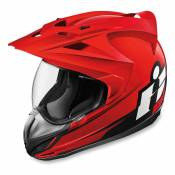 Casque intégral Icon Double Stack Variant rouge - XS
