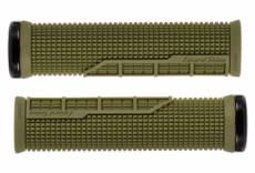 Paire de grips lizard skins machine single lock on vert olive
