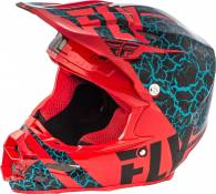 Casque cross Fly Racing F2 Carbon Fracture rouge/noir/bleu - L