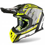 Casque cross Airoh AVIATOR 2.3 - GLOW - CHROME YELLOW - AMSS 2020