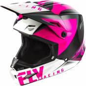Casque cross Fly Racing Elite Vigilant rose/noir - S