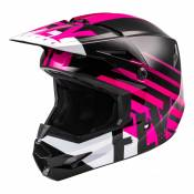 Casque cross enfant Fly Racing Kinetic Thrive rose/noir/blanc - YL