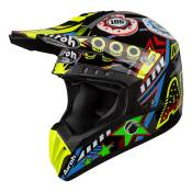 Casque cross Airoh Switch Flipper multicolre brillant - S