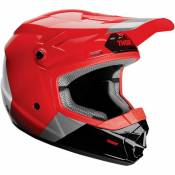 Casque cross enfant Thor Sector Bomber Mips charcoal/rouge- S