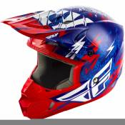 Casque cross enfant Fly Racing Kinetic Shocked bleu/rouge - YS