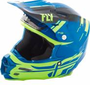 Casque cross Fly Racing F2 Carbon Forge noir/jaune/bleu - M