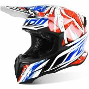 Casque cross Airoh Twist Leader bleu/blanc/rouge - L