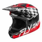 Casque cross enfant Fly Racing Kinetic Stretch rouge/noir/gris - YM