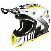 Casque cross Airoh AVIATOR ACE - NEMESSI - WHITE GLOSS 2021