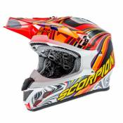 Casque cross Scorpion VX-20 AIR SYM Rouge fluo - XL