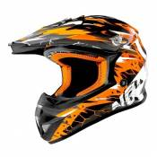Casque Cross Noend Cracked orange - S
