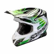 Casque cross Scorpion VX-20 AIR STAR TROOPER Noir Blanc Vert - M