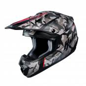 Casque cross HJC CS-MX II Sapir camo gris/rouge - S