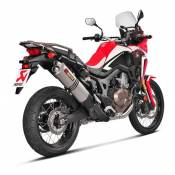 Silencieux Akrapovic double sortie titane Honda CRF 1000 L Africa Twin