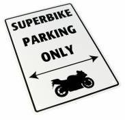 Plaque de parking Superbike parking only