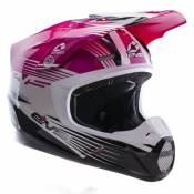Casque cross EVS T5 WORKS PINK WHITE BLACK 2017
