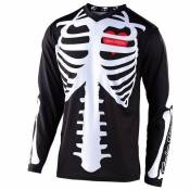 Maillot cross TroyLee design GP YOUTH - SKULLY - BLACK WHITE