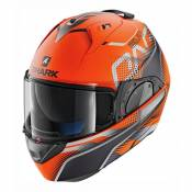 Casque modulable Shark Evo-One 2 Keenser Mat orange/noir/anthracite- X