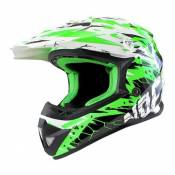 Casque Cross enfant Noend Cracked vert - YS