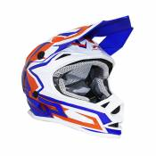 Casque cross enfant Progrip 3009 bleu / orange - L