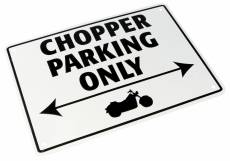 Plaque de parking Chopper parking only