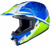 Casque cross Hjc CL XY II - ELLUSION - BLUE GREEN MATT