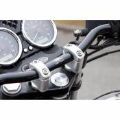 Pontets de guidon LSL rehausse +17 mm Ø28 Moto Guzzi V7 750 Cafe Race