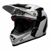 Casque cross Bell Moto-9 Flex Fasthouse Newhall blanc/noir- XL