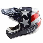 Casque cross TroyLee design SE4 POLYACRYLITE YOUTH W/MIPS - FREEDOM - BLUE