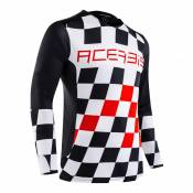 Maillot cross Acerbis LTD MX Start & Finish noir/rouge - XL