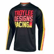 Maillot cross TroyLee design GP YOUTH - PRE-MIX 86 - BLACK YELLOW