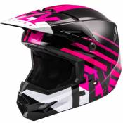 Casque cross Fly KINETIC THRIVE PINK BLACK WHITE ENFANT