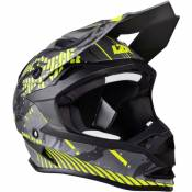 Casque cross Lazer OR1 Dark Star gris/jaune fluo mat- L