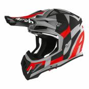 Casque cross Airoh Aviator Ace Trick rouge mat- L
