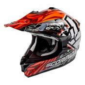 Casque cross Scorpion VX-15 EVO AIR ROK BAGOROS Orange fluo - S