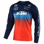 Maillot cross TroyLee design GP YOUTH - STAIN'D TEAM - NAVY ORANGE